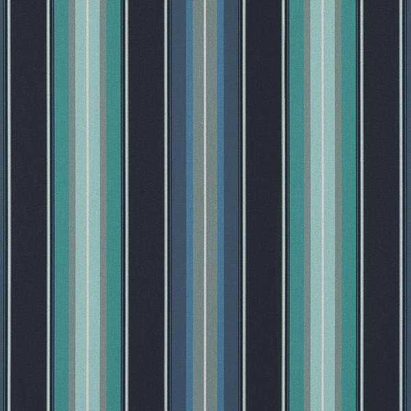 """Sunbrella Awning Stripe 4884-0000 Saxon Cascade 46"""" Fabric ..."""