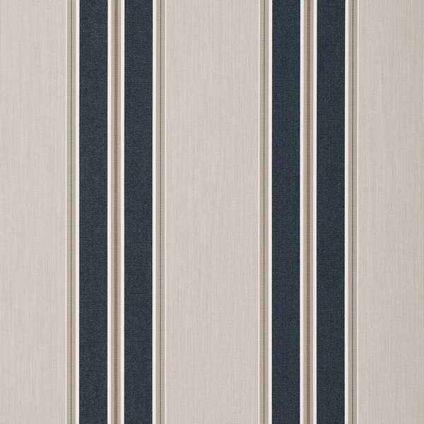Sunbrella Awning Stripe 4916-0000 Navy/Taupe Fancy 46 ...