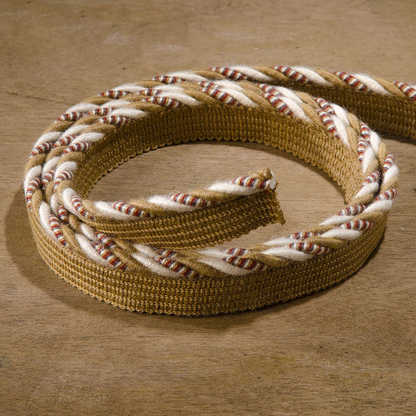 "Sunbrella Decorative Piping Trim 1/4"" Linen Brass Mix"