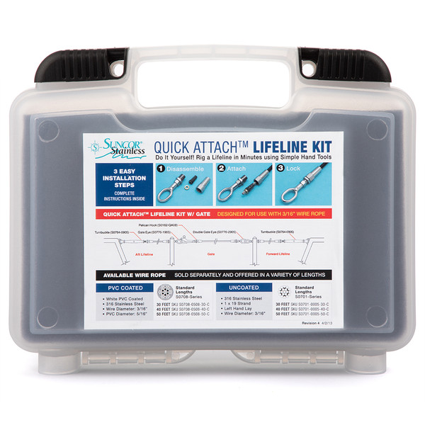 Suncor Quick Attach Lifeline Kit With Closed Gate