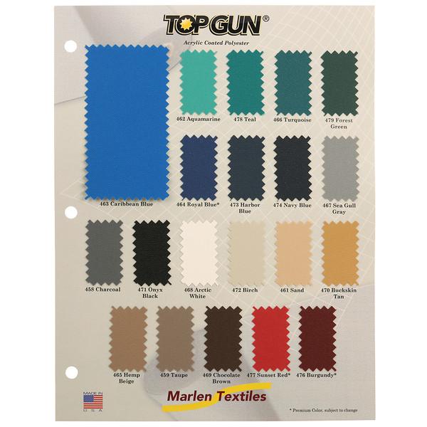 Top Gun Fabric Color Card Sailrite