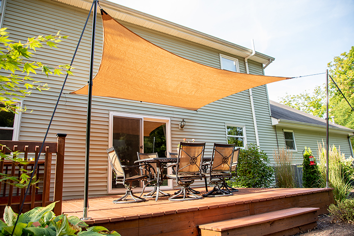 DIY patio sun shade.