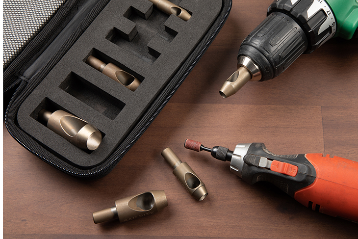 Learn how to sharpen drill hole cutters.