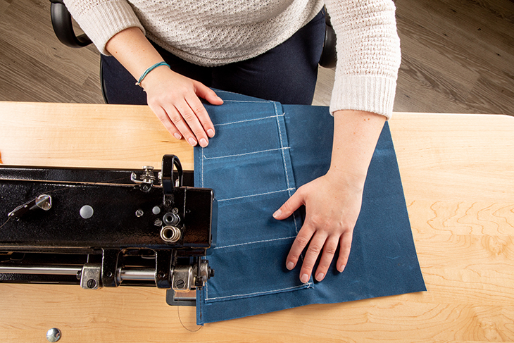 Learn tips for sewing waxed canvas fabric.